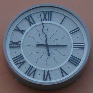 Фасадные часы. Бизнес-центр «Гайот» (г. Санкт-Петербург)