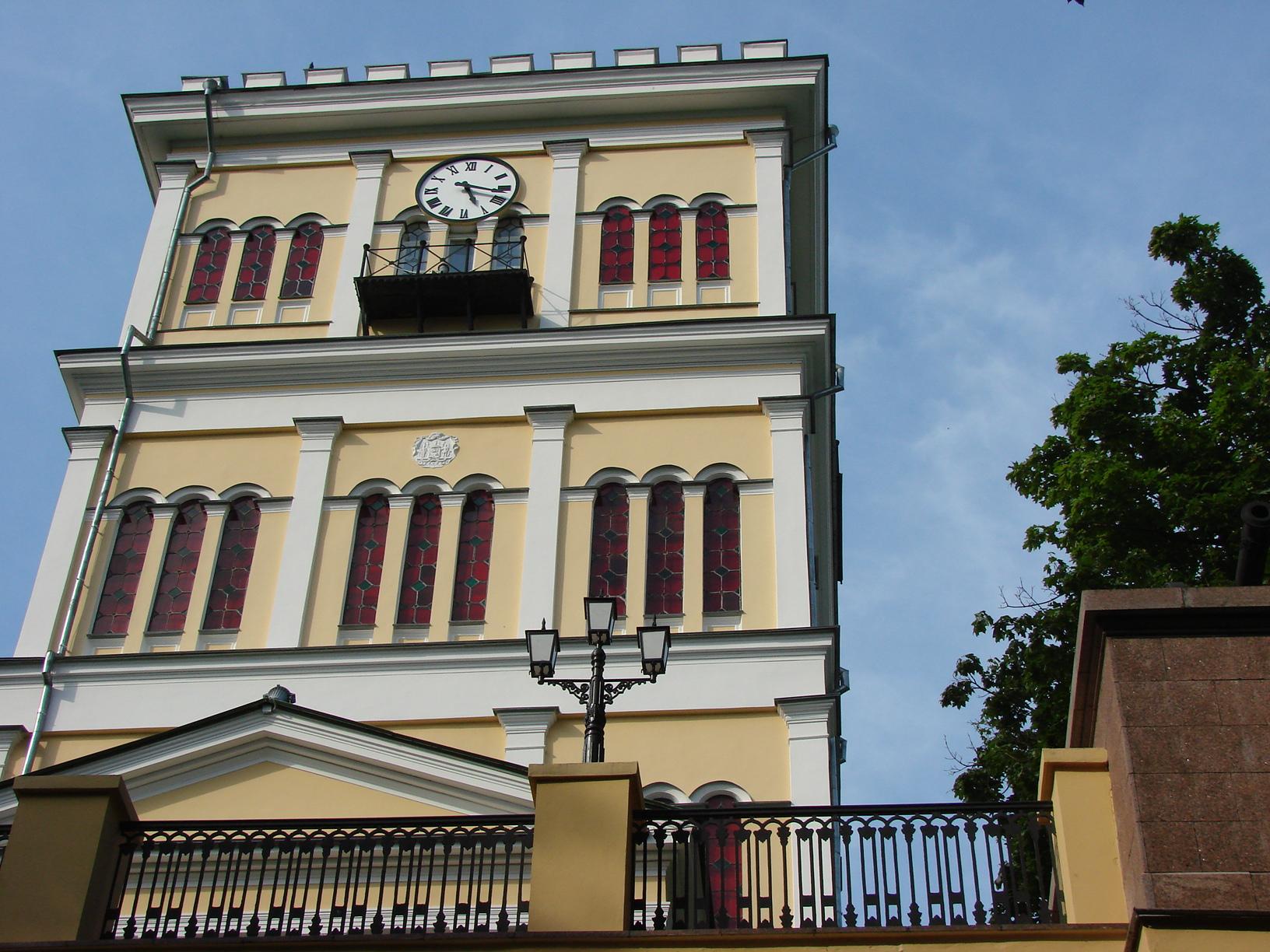 Фасадные часы. Дворец Румянцевых и Паскевичей (г. Гомель)