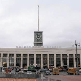 Фасадные часы. Финляндский вокзал (г. Санкт-Петербург)