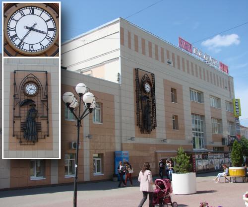 "Фасадные часы для универмага ""Калуга"""