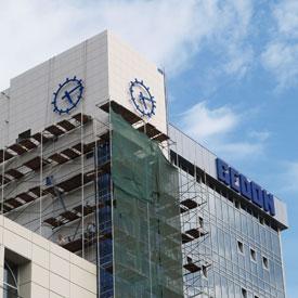 Фасадные часы. Башня бизнес-центра «Гедон» (г. Ростов)