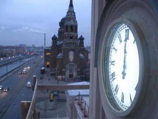 Фасадные часы. Варшавский вокзал (г. Санкт-Петербург)